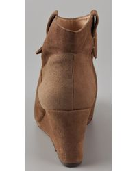 Rebecca Minkoff - Natural Doll Suede Wedge Booties - Lyst