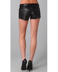 Siwy - Black Magnolia Leather Shorts - Lyst