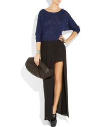 Splendid | Blue Sequin-embellished Knitted Cotton-blend Sweater | Lyst