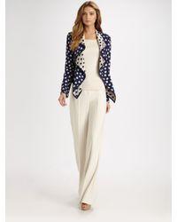 St. John | White Wide-legged Diana Pants | Lyst