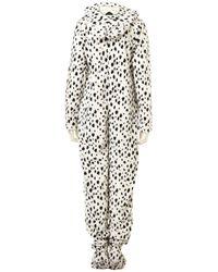 TOPSHOP - Gray Dalmatian Print Onesie - Lyst