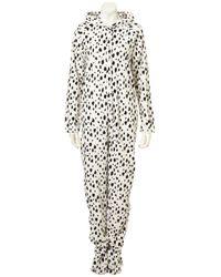 TOPSHOP | Gray Dalmatian Print Onesie | Lyst