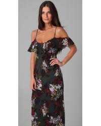 Twelfth Street Cynthia Vincent | Black Long Floral Dress | Lyst