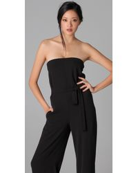 VINCE | Black Strapless Jumpsuit | Lyst