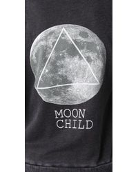 Wildfox - Gray The Moon Child Love Story Hoodie in Dirty Black - Lyst