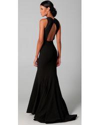 Zac Posen | Black Stretch Cady Dress | Lyst