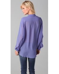 Acne Studios - Purple Shining Blouse - Lyst