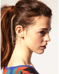 ASOS Collection | Metallic Asos Spike Ear Cuff and Comb | Lyst