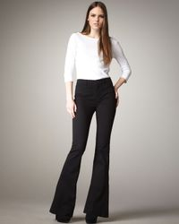 J Brand | Black Isabella High-rise Flared Trousers | Lyst