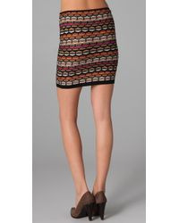 M Missoni | Black Honeycomb Knit Tube Skirt | Lyst