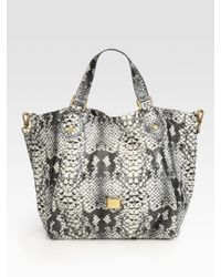 Marc By Marc Jacobs | Black Supersonic Snake-print Francesca Tote Bag | Lyst