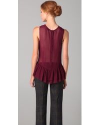 Theory | Purple Karady Top | Lyst