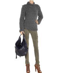 Dolce & Gabbana - Gray Chunky-knit Cotton-blend Sweater - Lyst