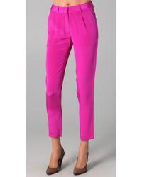 Jenni Kayne - Pink Pleated Trouser - Lyst