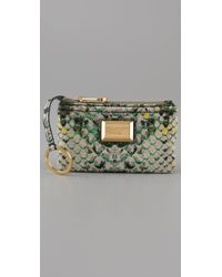 Marc By Marc Jacobs - Green Supersonic Snake Printed Key Pouch - Lyst