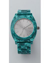 Nixon | Green Time Teller Acetate Watch | Lyst