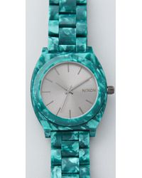 Nixon - Green Time Teller Acetate Watch - Lyst