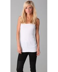 Splendid | White Ribbed Tank | Lyst