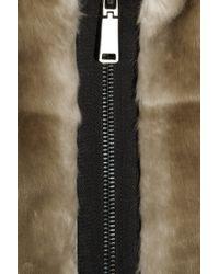 Tibi | Brown Taupe Faux Fur Jacket | Lyst