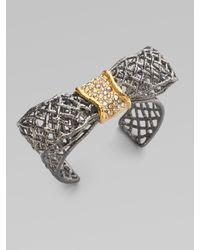 Alexis Bittar - Metallic Swarovski Crystal Accented Bow Cuff Bracelet - Lyst