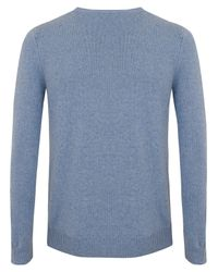 A.P.C. | Sky Blue Wool Jumper for Men | Lyst