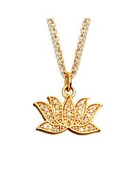 Astley Clarke | Metallic Lotus Charm Pendant | Lyst