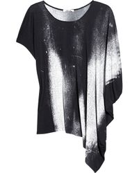 Helmut Lang | Gray Oversized Printed Jersey T-shirt | Lyst