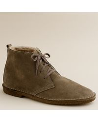 J.Crew | Green Suede Shearling-lined Macalister Boots for Men | Lyst