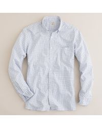 J.Crew | Blue Secret Wash Button-down Shirt in Traditional Tattersall for Men | Lyst