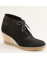 J.Crew | Black Macalister Wedge Boots | Lyst