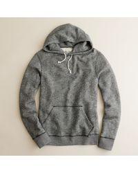 J.Crew | Gray Marled Fleece Hoodie for Men | Lyst