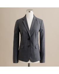 J.Crew | Black Nouvelle Jacket in Bi-stretch Italian Wool | Lyst