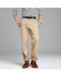 J.Crew | Natural Broken-in Chino in Relaxed Fit for Men | Lyst