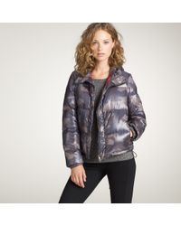 J.Crew | Purple Authier® Camouflage Puffer Jacket | Lyst