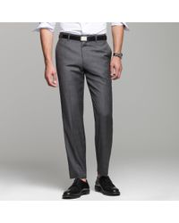 J.Crew | Gray Ludlow Suit Pant in Glen Plaid Italian Wool for Men | Lyst