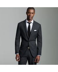 J.Crew | Gray Ludlow Two-button Suit Jacket with Double-vented Back in Pinstripe Italian Wool for Men | Lyst