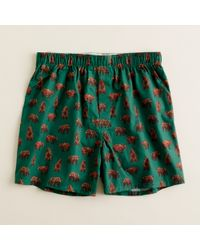 J.Crew | Green Grizzly Bear Boxers for Men | Lyst
