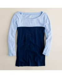 J.Crew | Blue Perfect-fit Colorblock Tee | Lyst