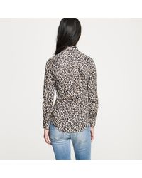 J.Crew | Multicolor Perfect Shirt in Leopard | Lyst