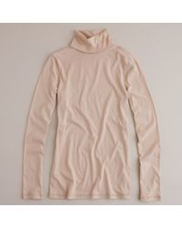 J.Crew | Pink Tissue Turtleneck T-shirt | Lyst