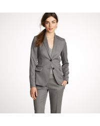 J.Crew | Gray Nouvelle Jacket in Wool Gabardine | Lyst