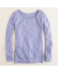 J.Crew | Gray Heathered Raglan Tee | Lyst