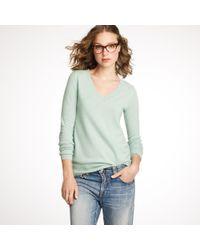 J.Crew - Blue Cashmere V-neck Sweater - Lyst