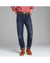 J.Crew - Blue Straight-fit Jean in Indigo Medium Worn Wash for Men - Lyst