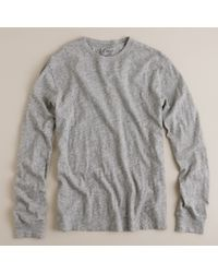 J.Crew | Gray Jaspé Long-sleeve Tee for Men | Lyst