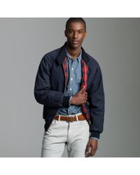J.Crew | Blue Baracuta® G9 Wax Harrington Jacket for Men | Lyst