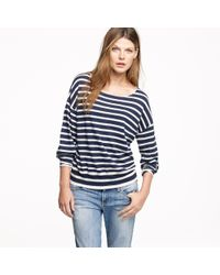 J.Crew | Blue Nili Lotan® Stripe Boyfriend Sweater | Lyst