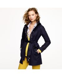 J.Crew | Blue Matinee Trench | Lyst