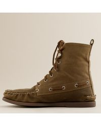 J.Crew - Natural Sperry Top-sider® For J.crew Authentic Original Waxed Canvas Boots for Men - Lyst