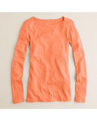 J.Crew | Orange Boatneck Painter Tee | Lyst